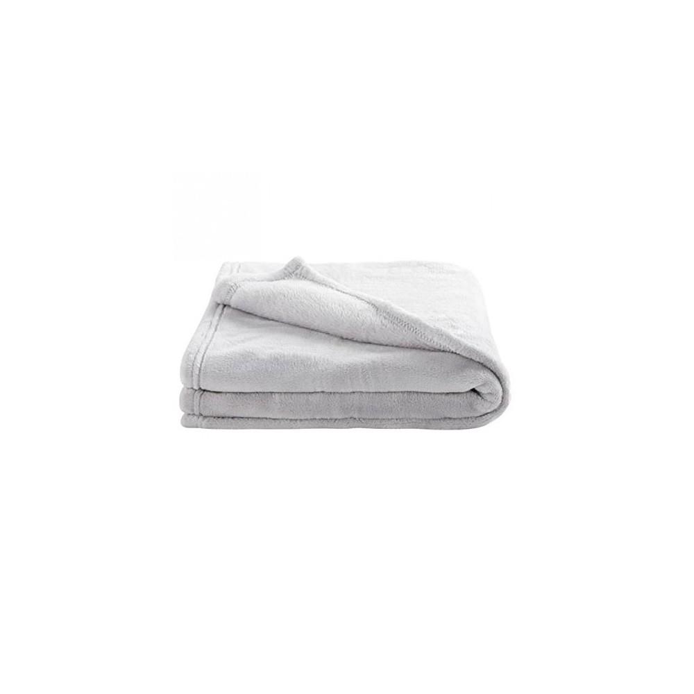 Couverture microdoux 75x100cm gris perle - Douxnid 1000131