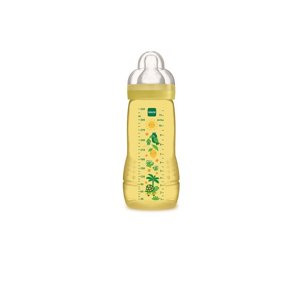 Biberon Easy Active 2ème âge 330 ml jaune - MAM 6044606